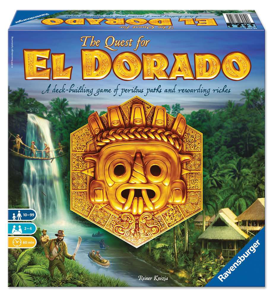 The Quest for El Dorado by Reiner Knizia published by Ravensburger. Image courtesy of Ravensburger.