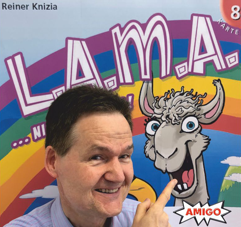 L.A.M.A. aka L.L.A.M.A. by Reiner Knizia published by Aribo