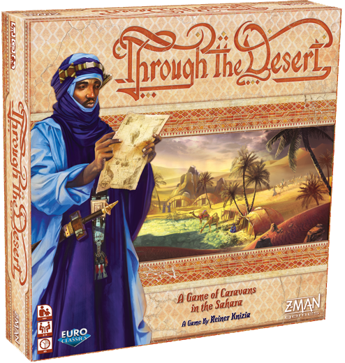 Through the Desert by Reiner Knizia published by Z-Man Games