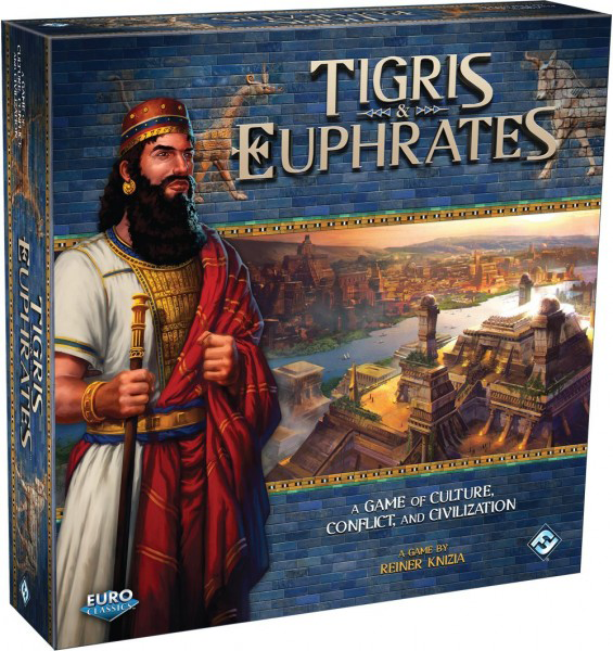 Tigris & Euphrates by Reiner Knizia published by Fantasy Flight Games