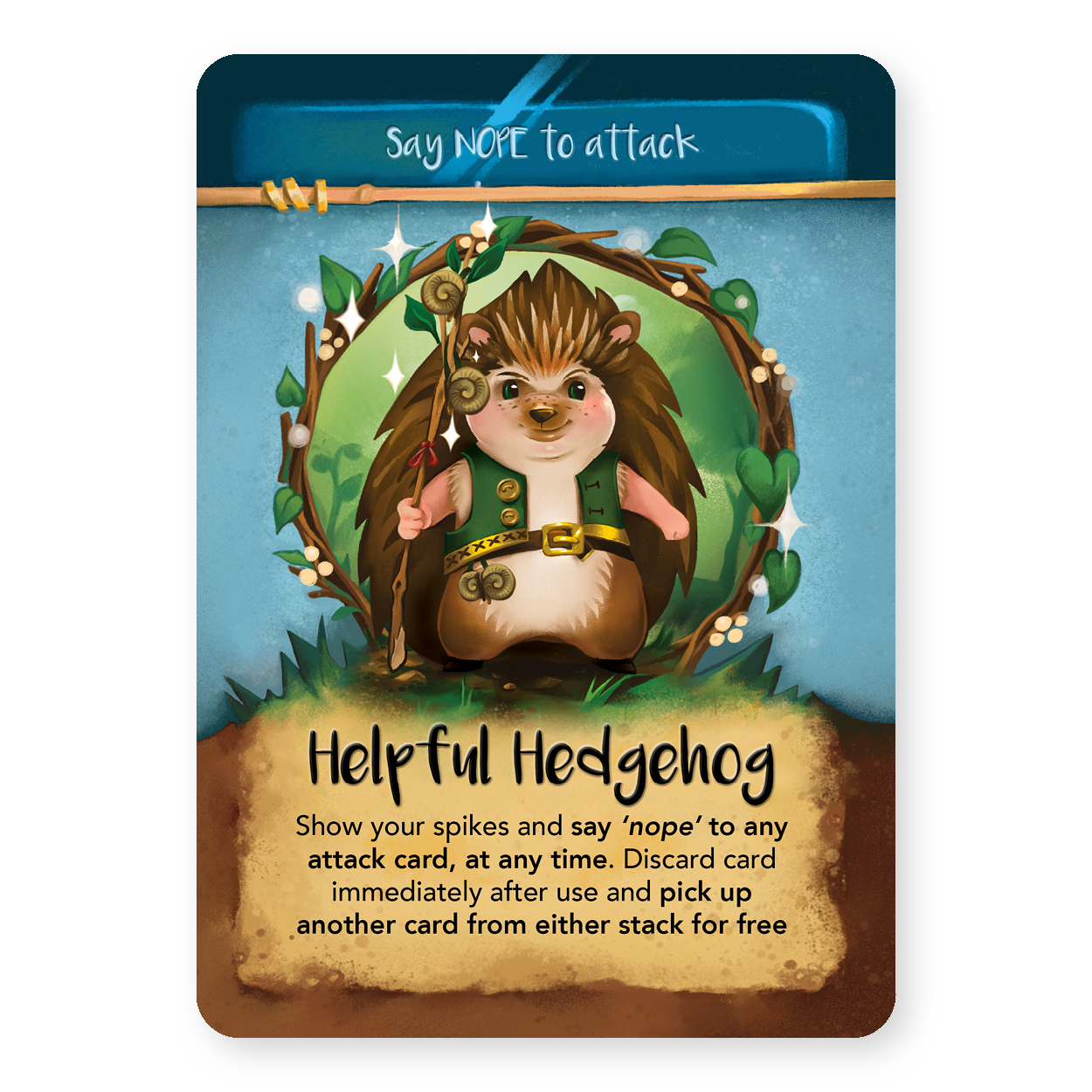Helful Hedgehog from Plotalot Image courtesy of Moonstone Games