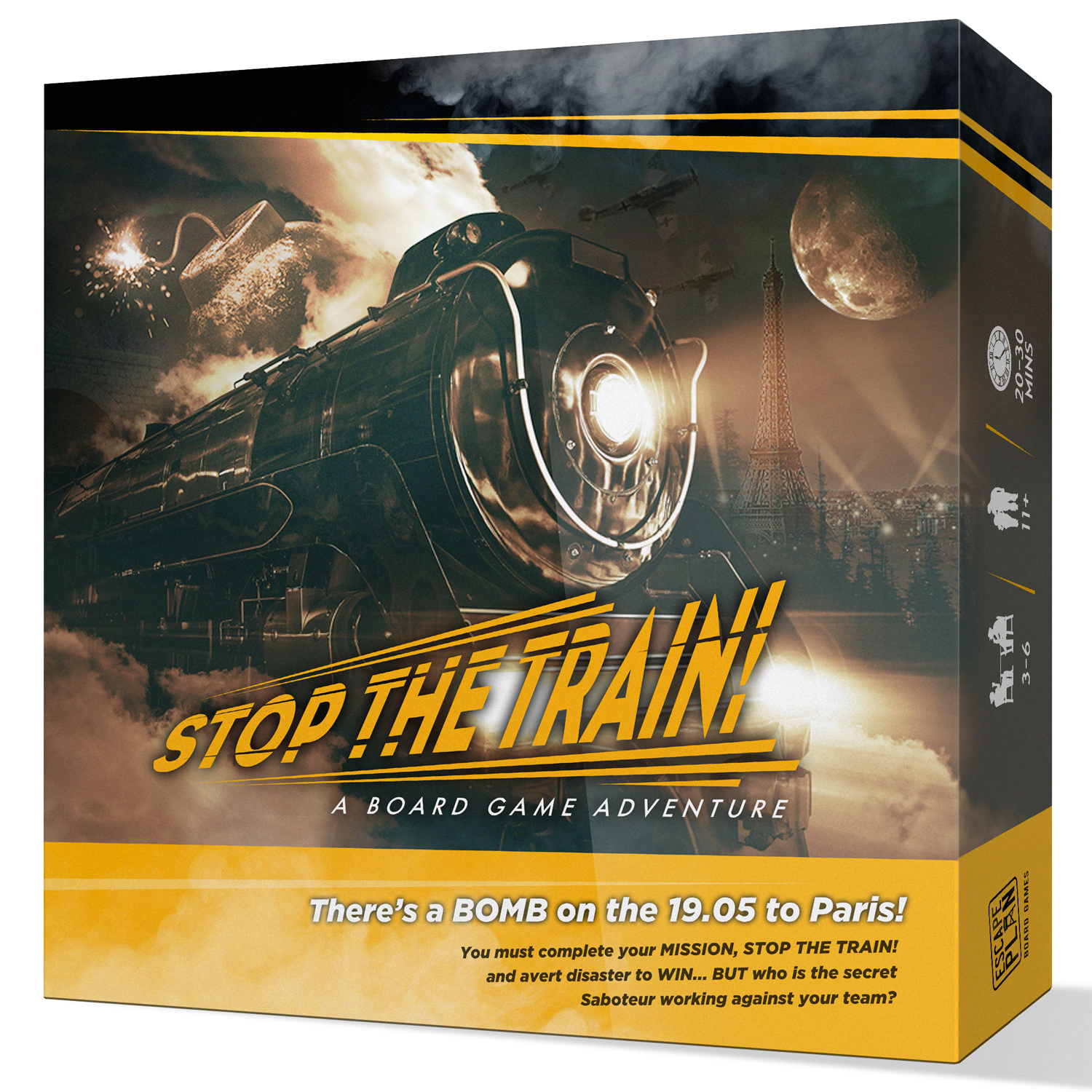 Stop the Train! Box ArtImage courtesy of the designer.