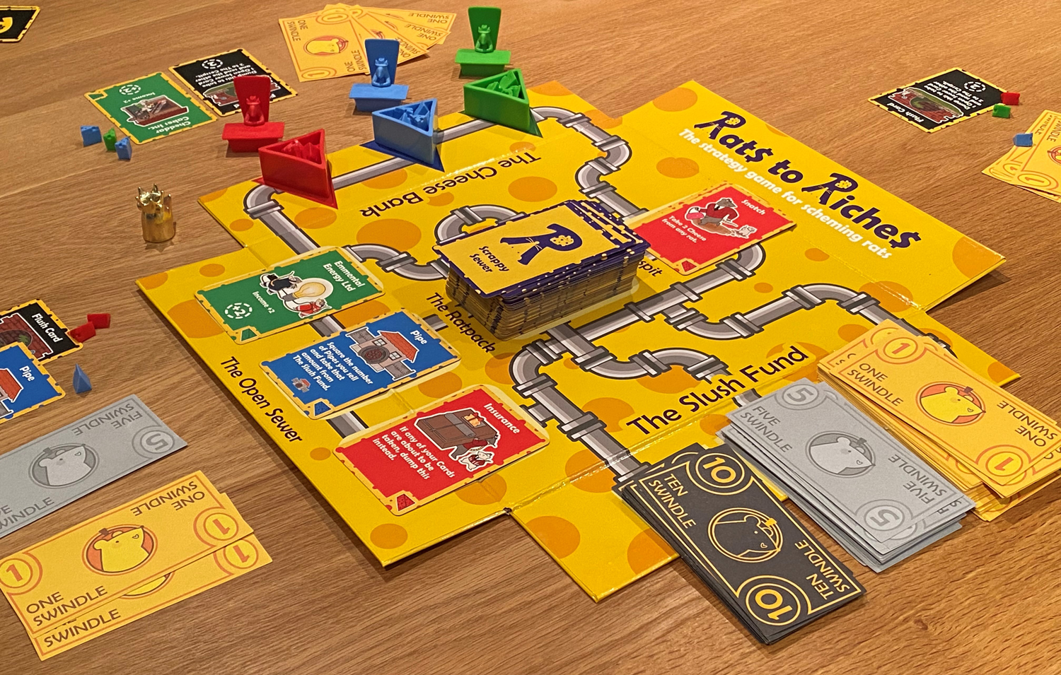 Rats to Riches Board Game Setup