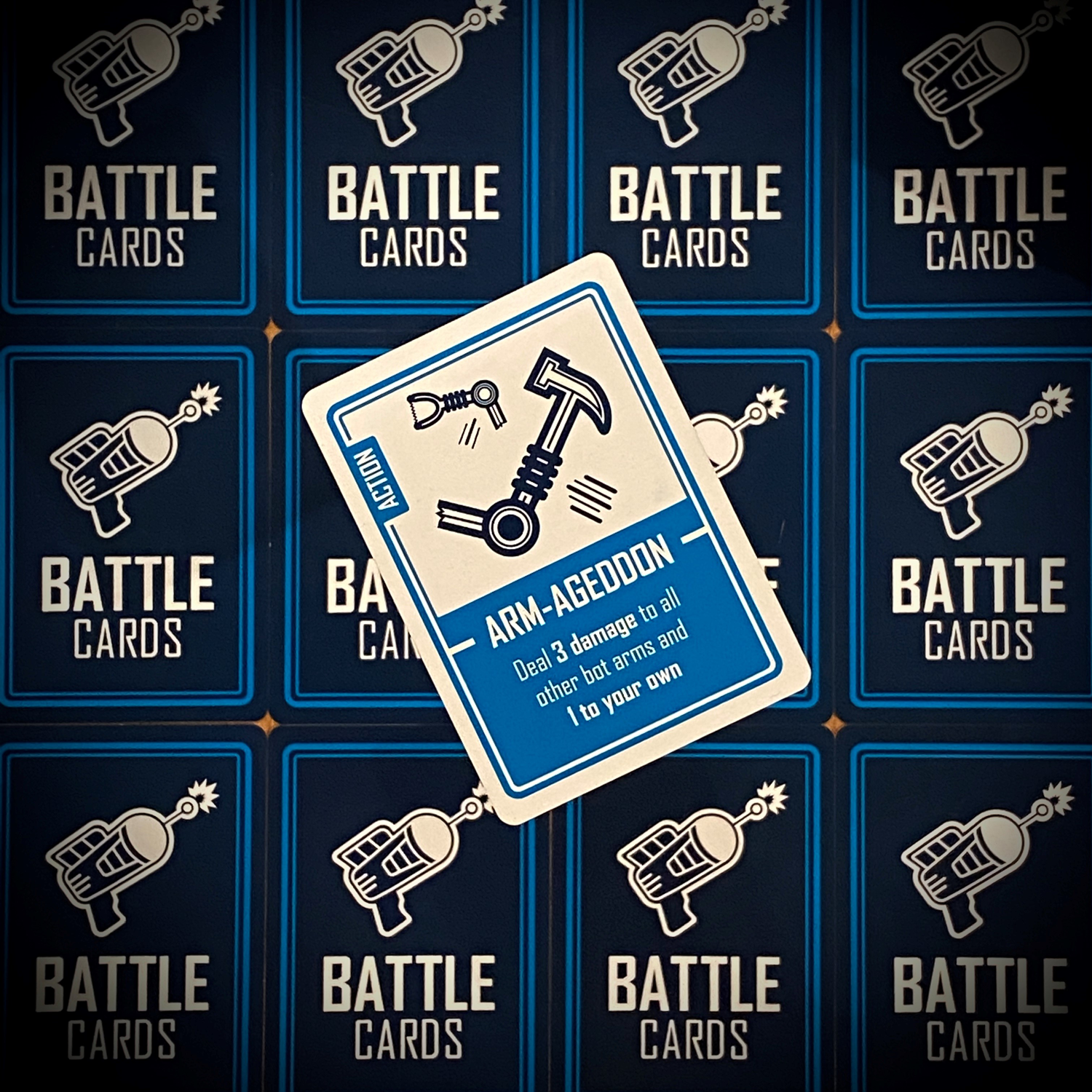 An attack Battle Cardfrom the game Bots Up