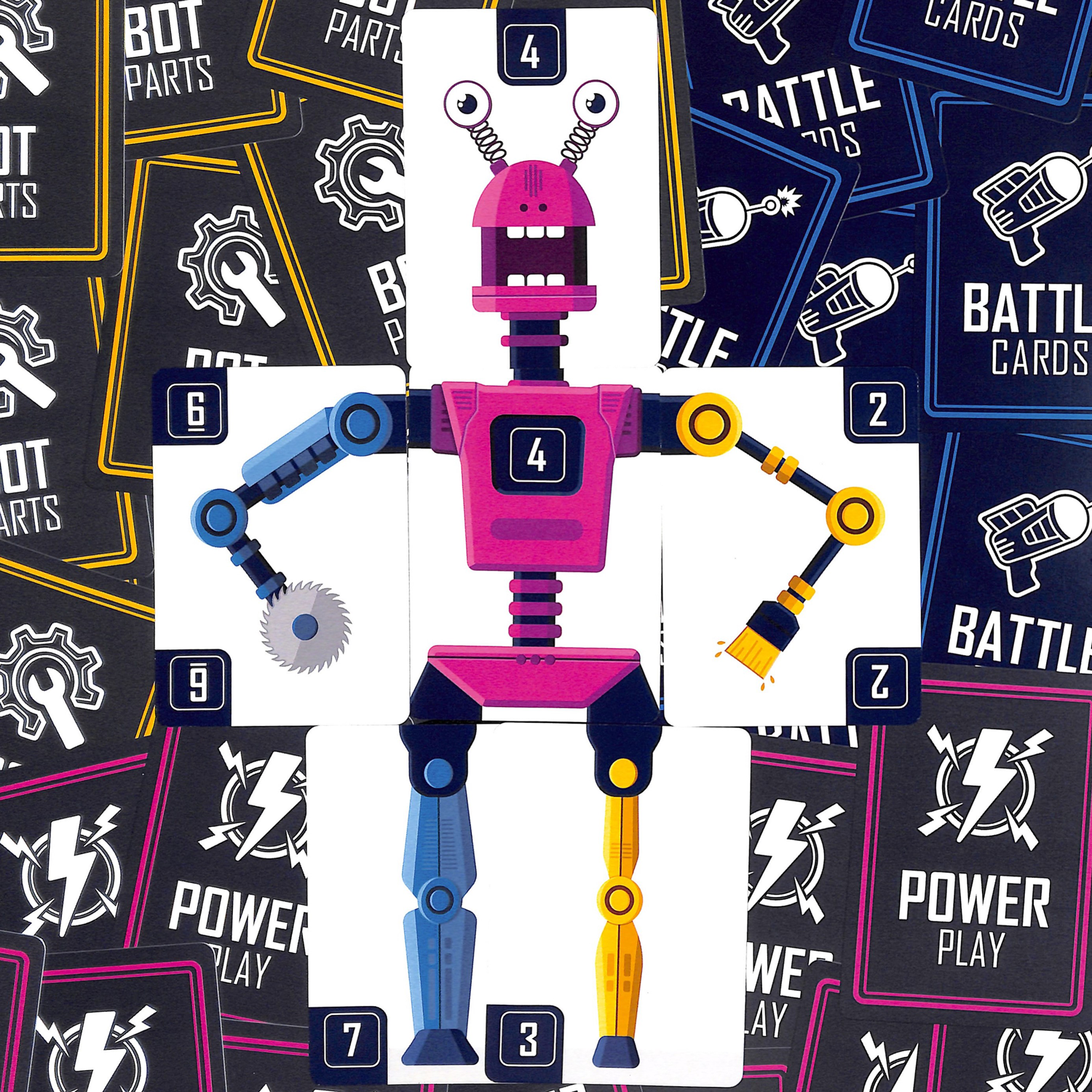 A robot prior to battle in Bots Up