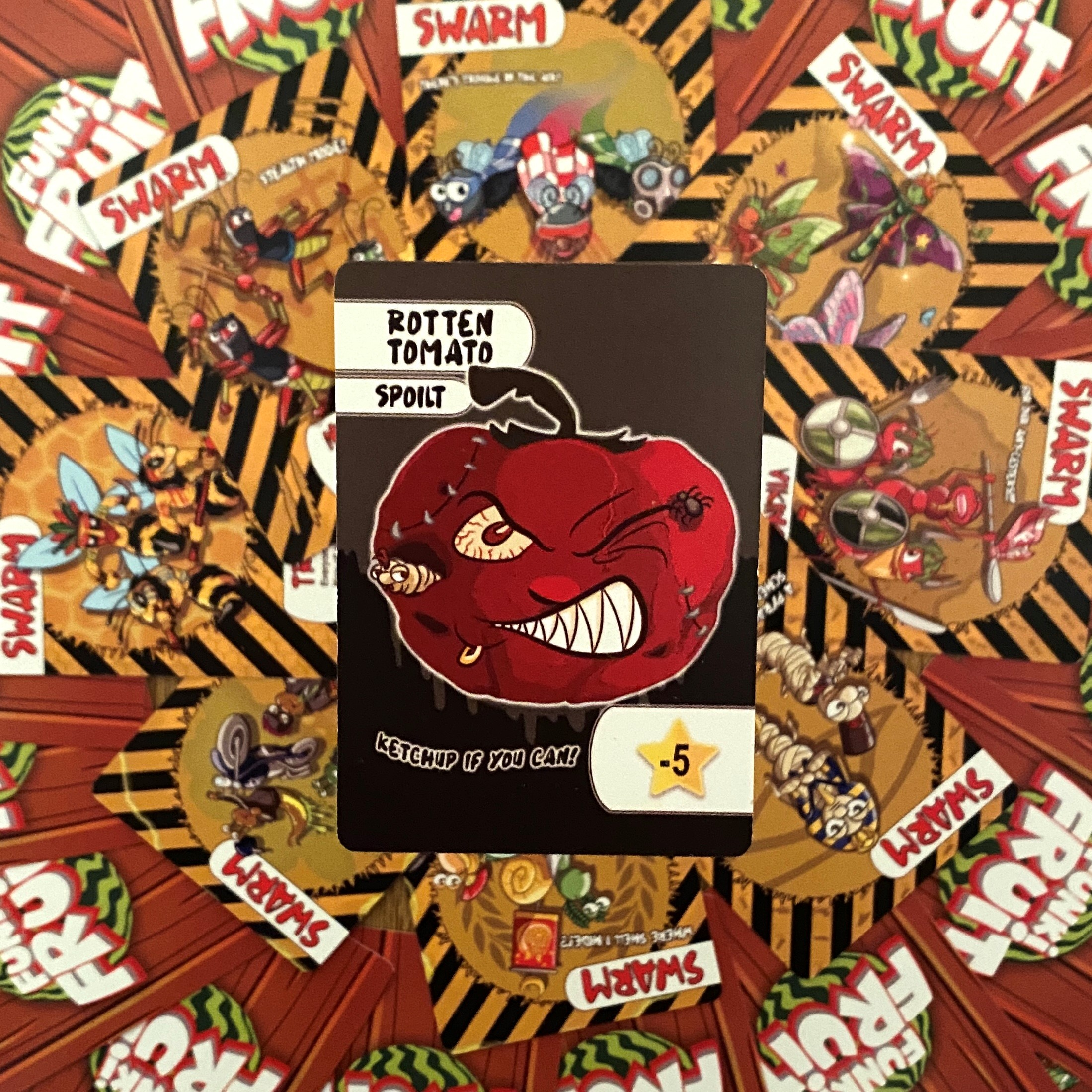 The Rotten Tomato Card from Funki Fruit