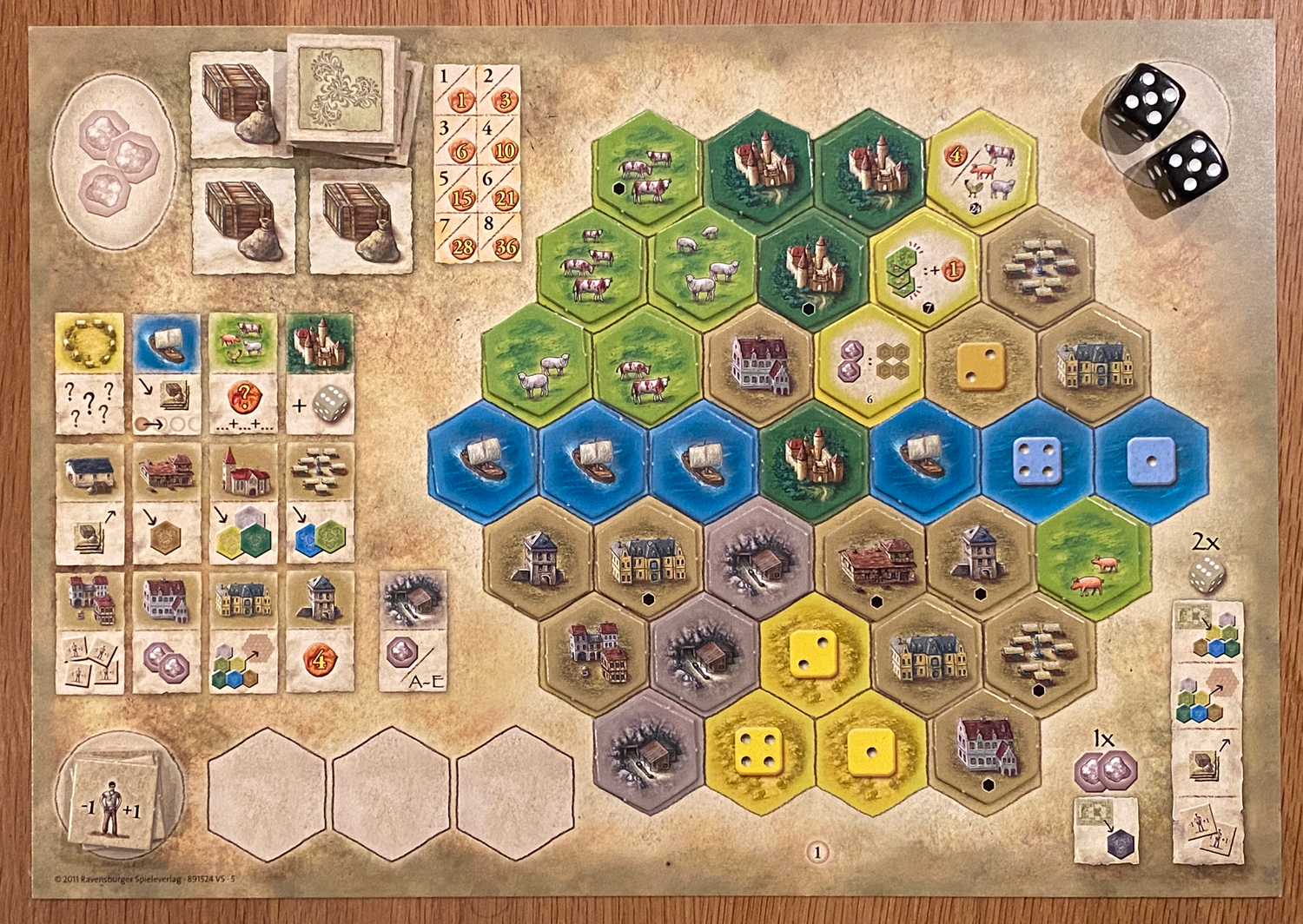 Castles-of-Burgundy-Completed-Player-Board