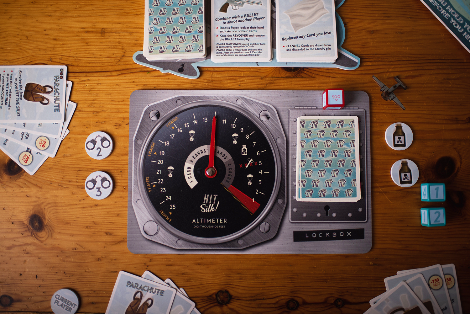 Hit the Silk! Set Up Image © Escape Plan Board Games