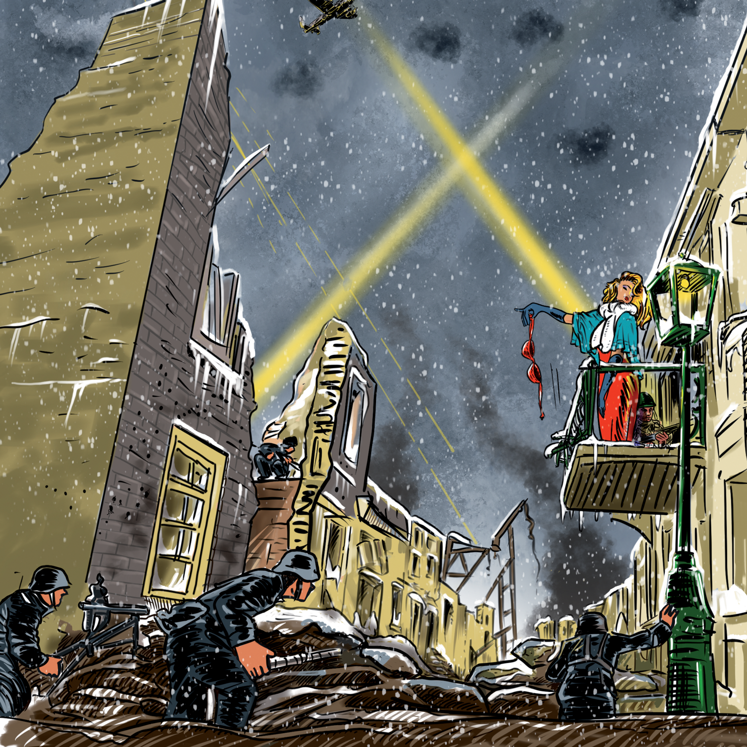 Spy artwork from Clash of the Ardennes Image courtesy of Elwin Klappe