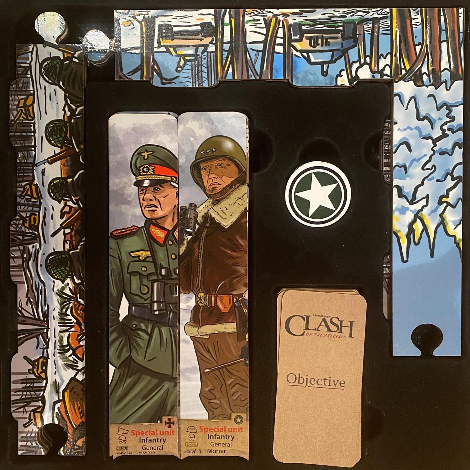Clash of the Ardennes Box Insert Image © Board Game Review UK