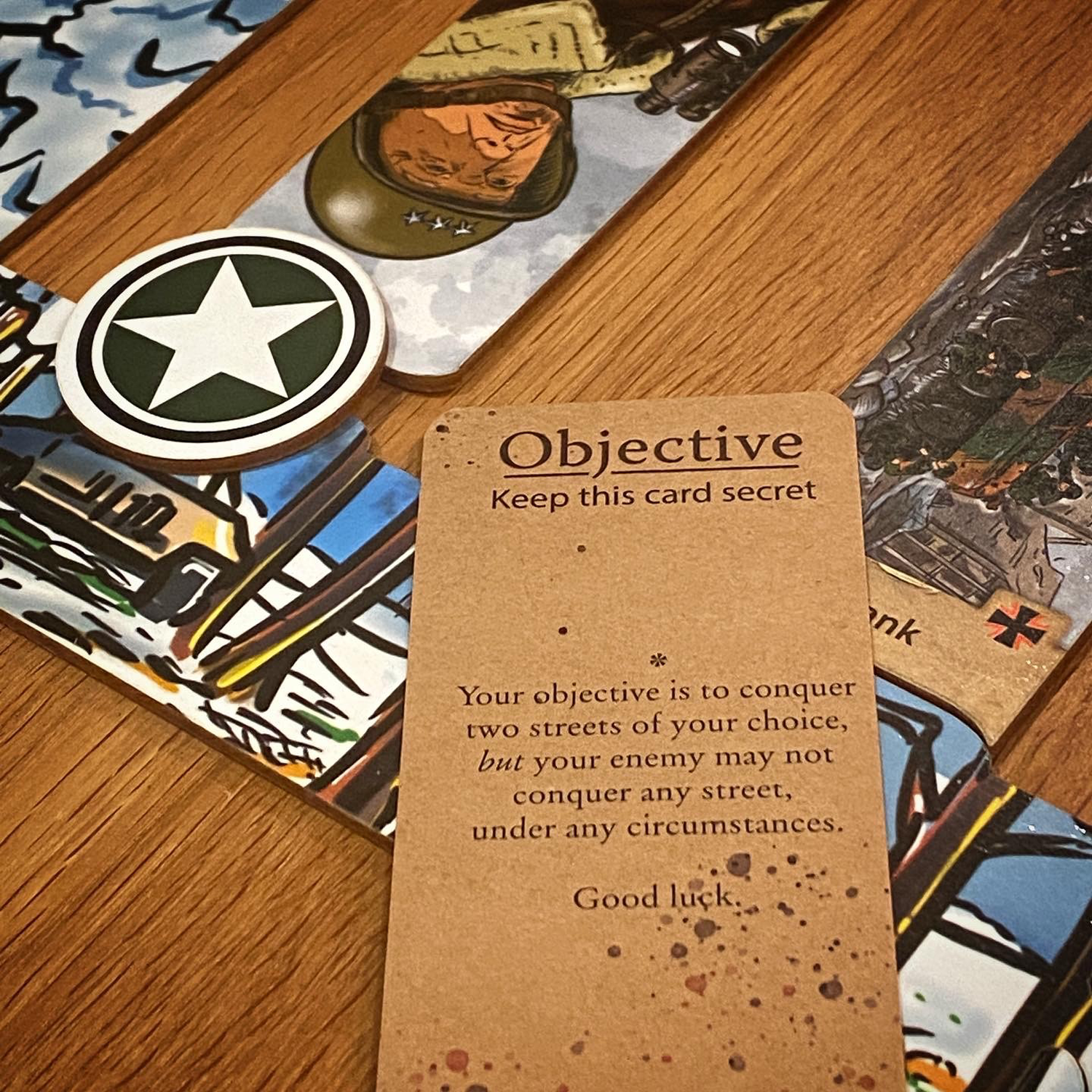 An objective card and defeat. Image © Board Game Review UK